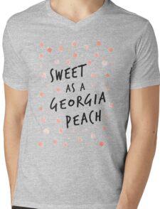 Sweet as a Georgia Peach Mens V-Neck T-Shirt