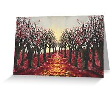 Redrum in the Trees Greeting Card