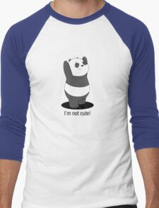 Panda Is NOT Cute Men's Baseball ¾ T-Shirt