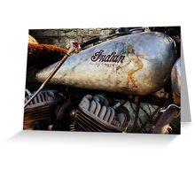 Indian Harley Chopper Greeting Card