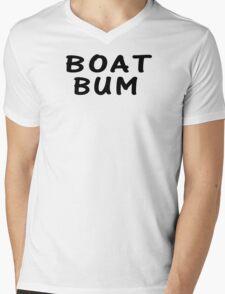 Boat Bum Mens V-Neck T-Shirt