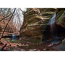 Seeing Double - Matthiessen State Park, IL Photographic Print
