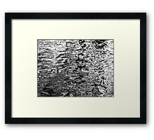 Water Abstract - Scribble Framed Print