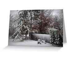 First Snowfall Autumn 2011 Greeting Card