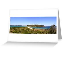 Broulee Island Panorama Greeting Card
