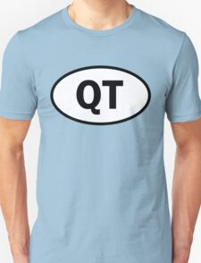 Cutie - QT - cutey - oval sticker and more Unisex T-Shirt