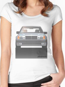 Modern Euro Icons Series Mercedes Benz W124 500E Women's Fitted Scoop T-Shirt