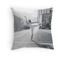 Lisa. Crossing the Street Ballerina Style Throw Pillow