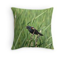 Singing in the Rushes Throw Pillow