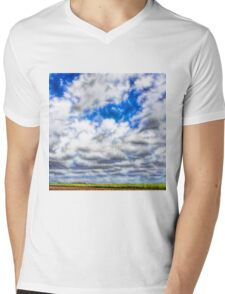 Abstract view of migrating magpie geese Mens V-Neck T-Shirt