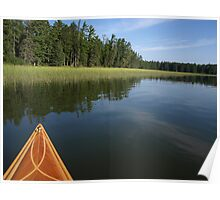 Early Morning on Lake Itasca Poster