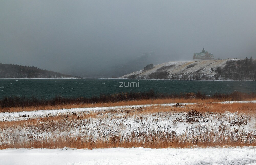 Hotel in snow storm by zumi
