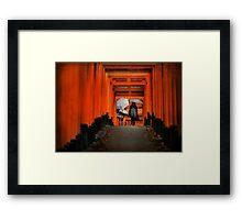 Under the Torii Framed Print