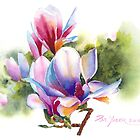Vibrant Magnolia  by Pat Yager