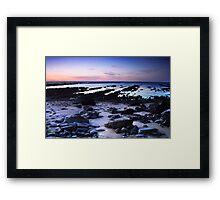 Moss Beach Shoreline Framed Print
