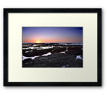 Moss Beach Tide Pools Framed Print