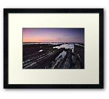 Moss Beach Rock Formations Framed Print