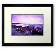 Half Moon Bay - Rose Rocks Framed Print