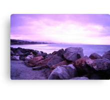 Half Moon Bay - Rose Rocks Canvas Print