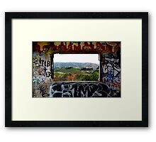 Window Through the Paint Framed Print