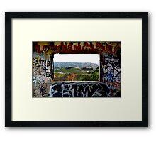 Window Through the Paint Framed Print
