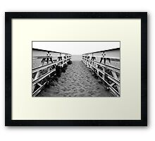Sand Bridge Framed Print
