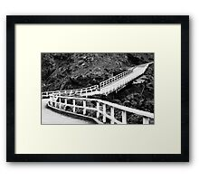 Winding Bridge Framed Print