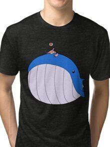 HSOWA- Skitty Loves Wailord Tri-blend T-Shirt