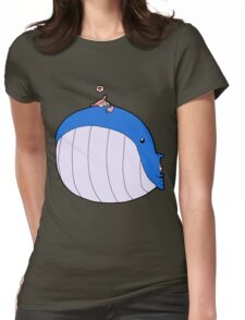 HSOWA- Skitty Loves Wailord Womens Fitted T-Shirt