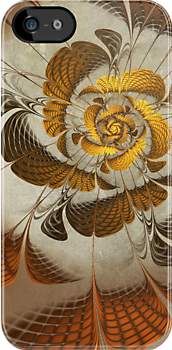 Gilded Flower - iPhone Case by John Edwards