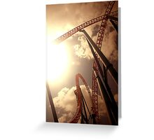 Superman Escape Roller Coaster I Greeting Card