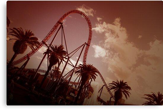 Superman Escape Roller Coaster II by Andrejs Jaudzems