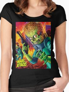 Mars Attack Women's Fitted Scoop T-Shirt