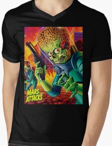 Mars Attack Mens V-Neck T-Shirt