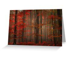 Enchanting Red Greeting Card