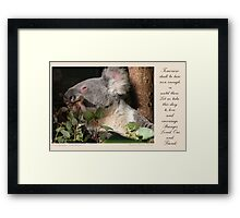~ This Day ~ a collaboration with Trish Meyer Framed Print