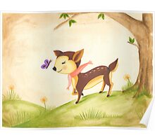 frolicking fawn Poster
