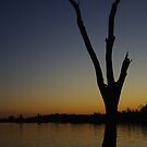 Sunset at Lake Mulwala, NSW by Andrejs Jaudzems