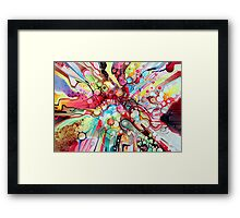 Time-Lapse Geometry Battle - Watercolor Painting Framed Print