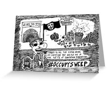 Occupy Sweep editorial cartoon Greeting Card