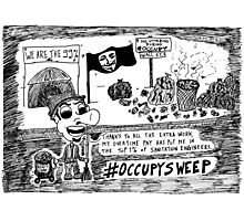 Occupy Sweep editorial cartoon Photographic Print