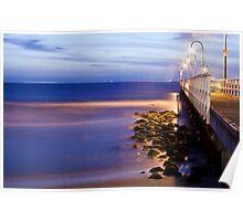 Port Melbourne Beach Jetty Poster