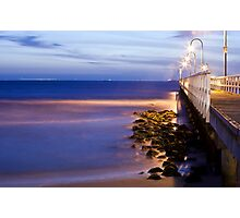 Port Melbourne Beach Jetty Photographic Print