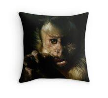 Black-capped Capuchin Monkey Throw Pillow
