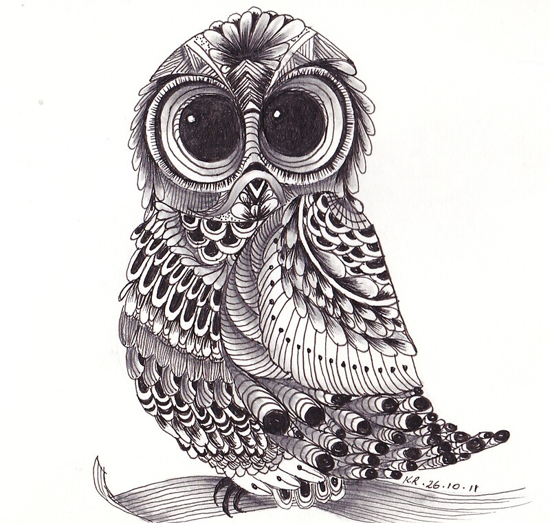 Gallery For gt Zentangle Owl