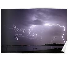 Lake Macquarie Lightning Poster