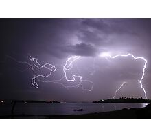 Lake Macquarie Lightning Photographic Print