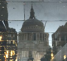 Rainy Night In The Shadow Of St Paul's by TonyClerkson