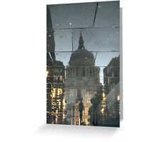 Rainy Night In The Shadow Of St Paul's Greeting Card
