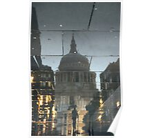 Rainy Night In The Shadow Of St Paul's Poster